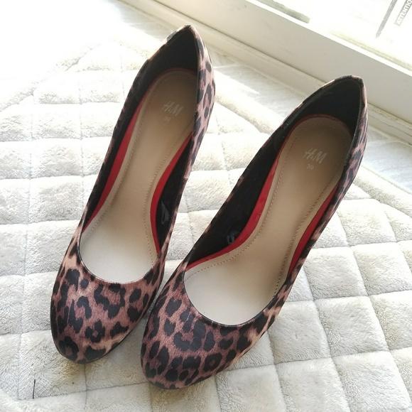 H\u0026M Shoes | Hm Leopard Print Pumps